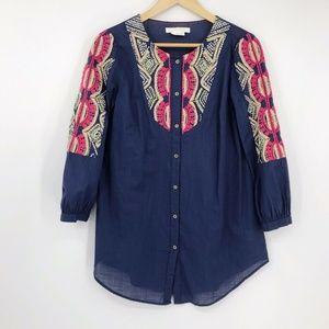 Hei Hei Anthro Agonda 3/4 Sleeve Button Up Tunic